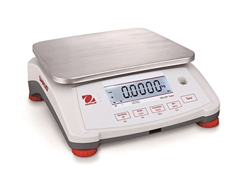 Ohaus Valor V71P3T Compact Portable Bench Checkweigher Scale 6 lbs / 3kg Readability 0.0002 lb / 0.1g, Dual Display, Counting,NTEP,Legal For Trade,Class (Dual Display Bench)