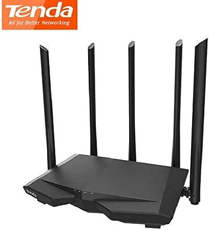 Router INALÁMBRICO TENDA AC7 802.11AC Wave 2.0 2.4/5GHZ 3*GIGABIT LAN GIGABIT WAN 5*Antenas 6DBI Banda Dual