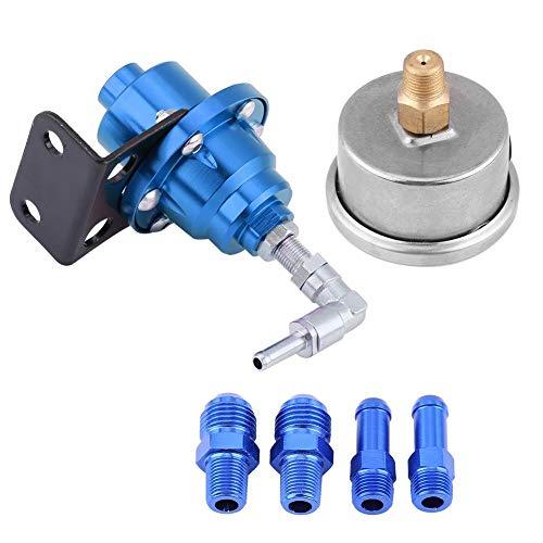 Fuel Pressure Regulator Pressure Regulator Universal Aluminium Car 160 PSI Adjustable 1:1 Fuel Pressure Regulator Oil Pressure Gauge Kit: