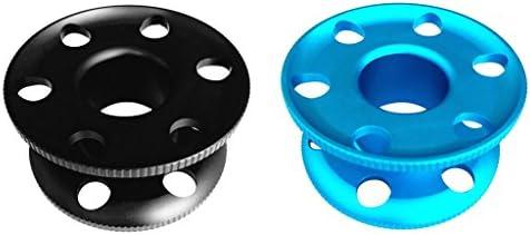 2個 アルミニウム合金 スキューバ ダイビング フィンガー スプール ダイブ リール ガイド ライン スプール