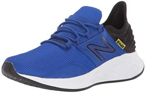New Balance Boys' Roav V1 Fresh Foam Running Shoe, UV Blue/Black, 5.5 W US Big Kid ()