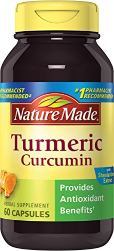 Nature Made Turmeric Curcumin 500 mg Capsules Antioxidant 60 Ct