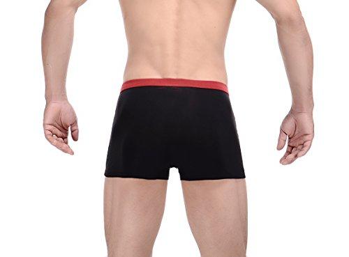 Trunk 3 vêtements Ahatech Sexy Hommes Shorts De Lot Boxer Low Stretch Sous Rise w7gz4