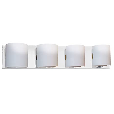 Amazon.com: Dainolite Lighting V030 – 4 W-pc 4 luz baño Luz ...