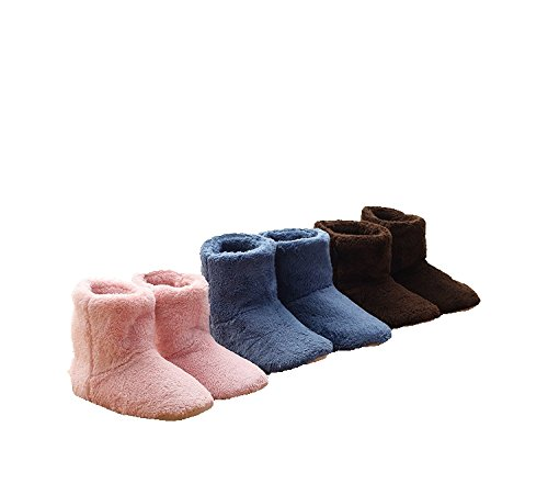 New Winter Fluffy Cotton Boots Household Heat Preservation Cotton Shoes Indoor Confined Shoes Blue tdTmi0
