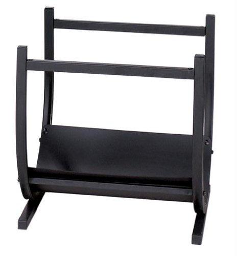 UniFlame Wrought Iron Log Rack, Black (Holder Wood Uniflame)