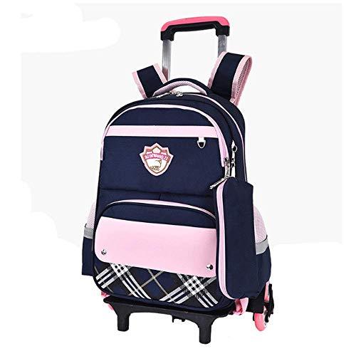 e78c56be4e23 DarkBlau YWZQ YWZQ YWZQ Trolley Rucksack für Kinder, Jungen und ...