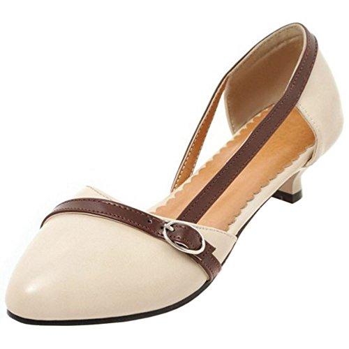 fc2fd28d573b0b new TAOFFEN Femme Confortable A Enfiler Bout Ferme Chaussures Talon Bas  Kitten Heel Sandales