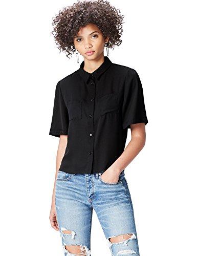 Cropped Mujer Para Find negro Camisa Negro pqFqxUY