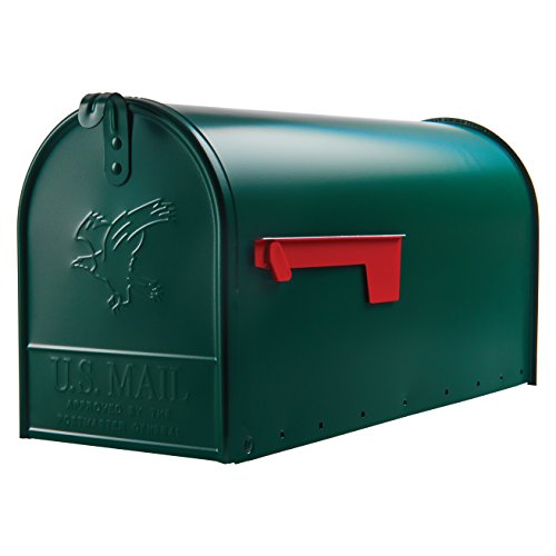 Gibraltar Mailboxes Elite Large Capacity Galvanized Steel Green, Post-Mount Mailbox, E1600G00