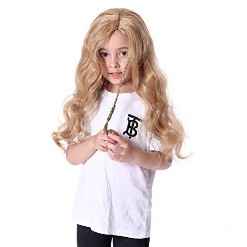 Smilco Princess Rapunzel Blonde Wigs for Girls Kids, Long Blonde Hair Wig for Kids Girls Children -