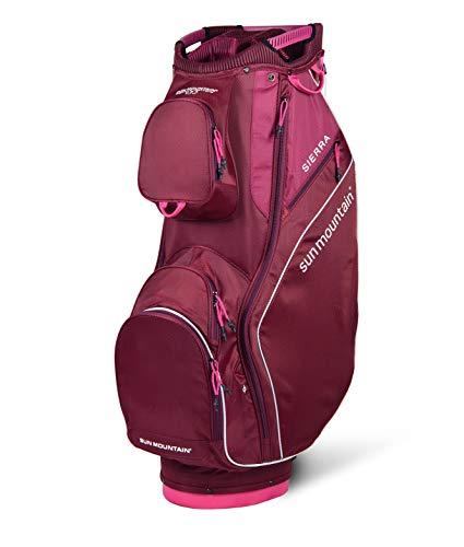 Sun Mountain Golf 2019 Sierra Women Cart Bag - Merlot-Berry ()