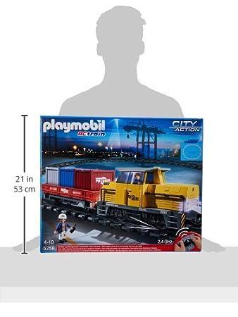 Playmobil - Tren de mercancías con radiocontrol (5258)