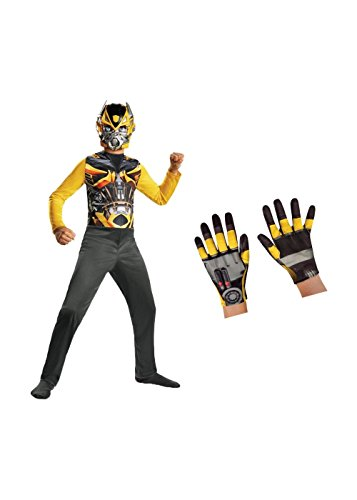 Little Boys' Transformers Bumblebee Costume and (Bumble Bee Child Gloves)