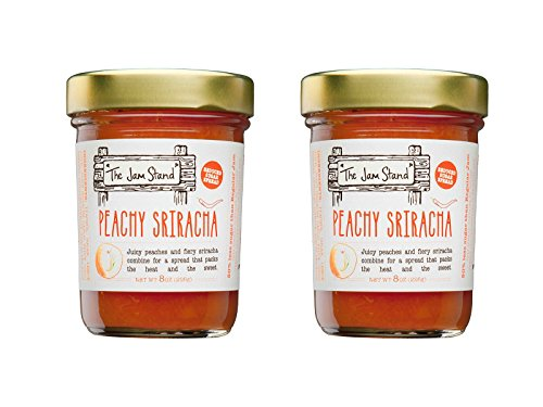 - The Jam Stand, Peachy Sriracha Jam, 9.5 oz (Pack of 2)