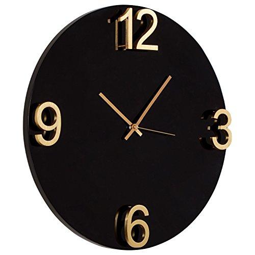 Rivet Modern Clock, 18 H, Black Brass