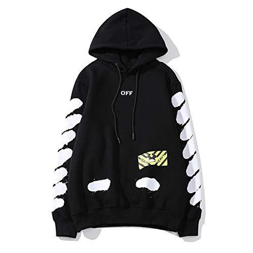 high Street Men and Women Street Hip hop Hoodie Splash Ink Diagonal Stripes Couple Hooded Jacket