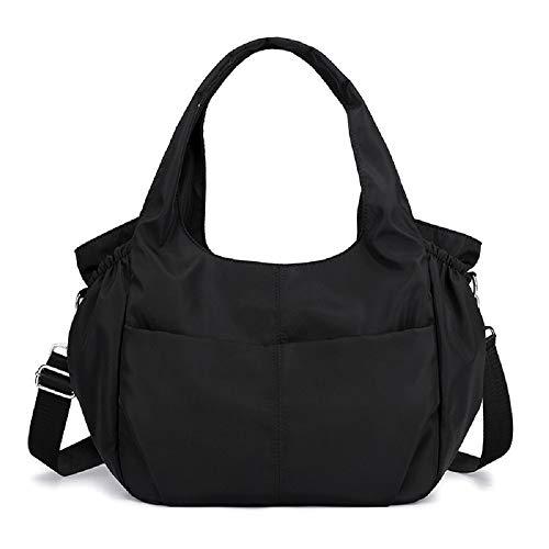 (Women Handbags Hobo Shoulder Bags Large Waterproof Nylon Travel Bag Lightweight Capacity)