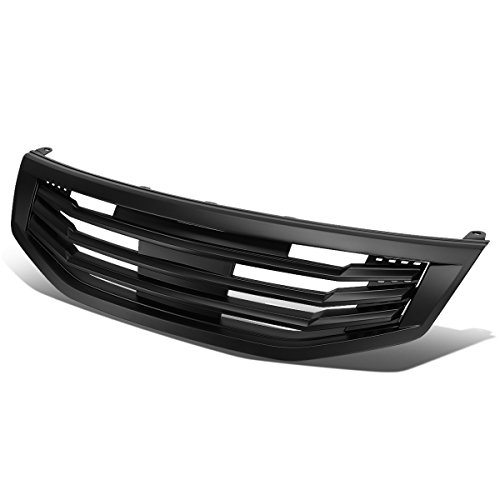 - For Honda Accord 4DR Mu Style ABS Plastic Front Grille (Black) - 8th Gen CP CS Pre-Facelift