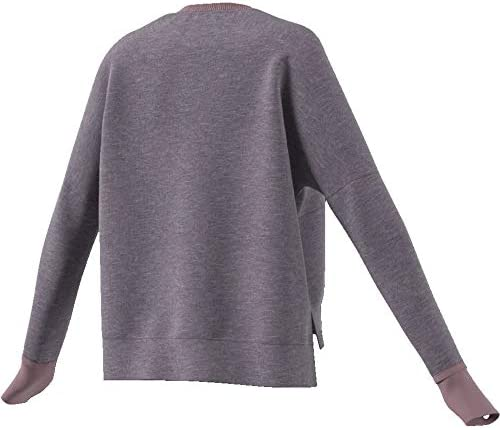 adidas W VER Crew Sweat-Shirt Femme, Leprme, FR (Taille Fabricant : XL)