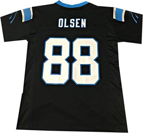 Greg Olsen Carolina Panthers #88 Black Toddler NFL Home Replica Jersey