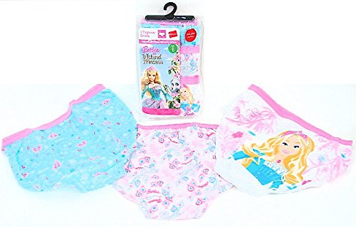 Hanes Girls Barbie Briefs - Cotton Barbie Panties