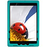 Bobj Rugged Cover for ASUS ZenPad Z10 (ZT500KL, P00I) and ZenPad 3S-10 (Z500M, P027) - BobjGear Custom Fit - Patented Venting - Sound Amplification - BobjBounces Kid Friendly (Terrific Turquoise)