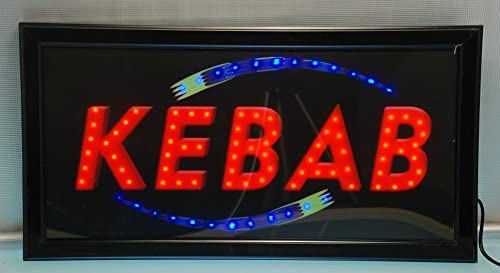 CARTEL LUMINOSO LED KEBAB: Amazon.es: Iluminación