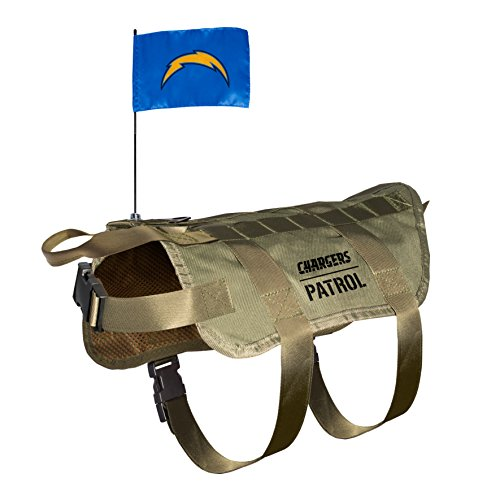 NFL San Diego Chargers Pet Tactical Vest, Medium/Large (Dog San Collar Diego Chargers)