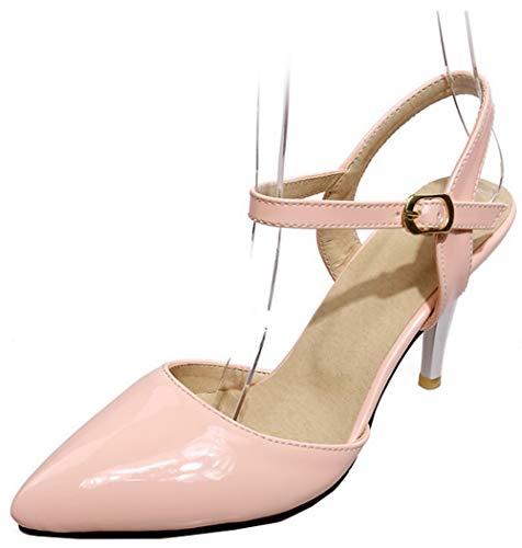 Allhqfashion Fbuidd010563 flats Alto Donna Tacco Rosa Ballet Puro Fibbia fAfrqzx