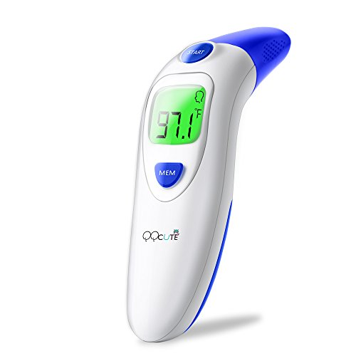 Digital Infrared Baby Forehead Thermometer with Ear Function More Accurate Medical Fever Body Basal Thermometers Suitable for Infant Kid Adult - FDA and CE Approved by QQCute