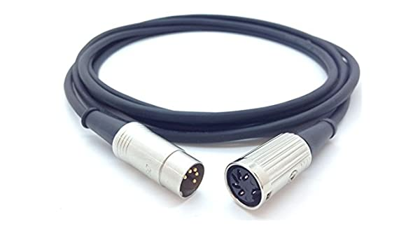 Pro Cable de extensión de MIDI 5 pin DIN MIDI LEAD - Macho a ...