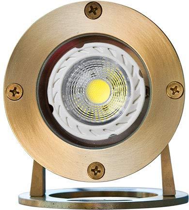 DABMAR LIGHTING LV323-LED3-BS Solid Brass LED Pond/Fountain Underwater Light, Brass