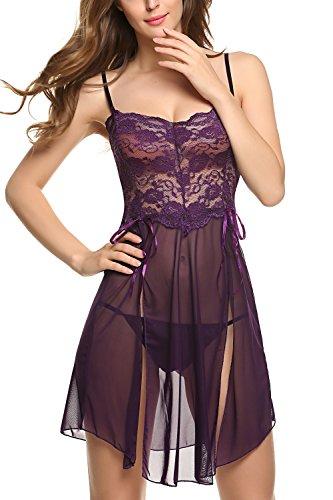 Avidlove-Women-Lingerie-Forky-Nightwear-Mesh-Babydolls-Lace-Chemises