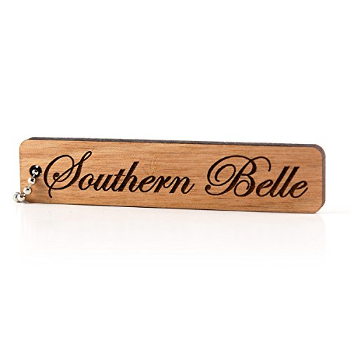 Sunset Design Lab Southern Belle Wood Laser Cut Keychain Charm Ornament