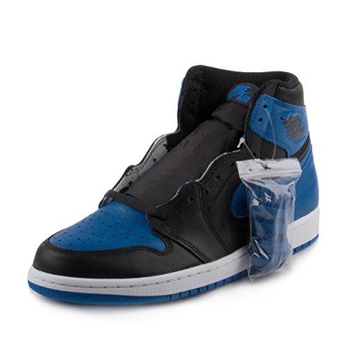 Nike Men's Air Jordan AJ 1 High Top Shoe, Royal Blue/Black/White, 9 D(M) US (Air Jordan 1 Retro Royal)