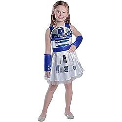 Princess Paradise Girls' Classic Star Wars R2d2 Dress, White, X-Large