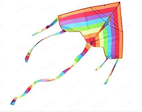 Bunte Regenbogen Dreieck Drachen Outdoor Spaß Sport Strand Kinder Fliegen S