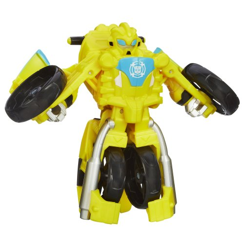 Heroes Bee Bumble Robot - Playskool Heroes, Transformers Rescue Bots, Bumblebee Figure (Motorcycle)