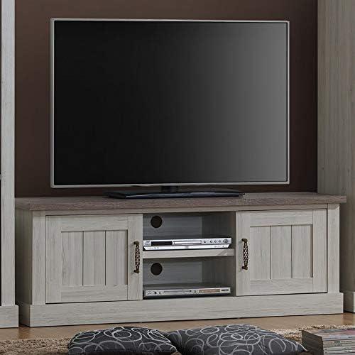 Kasalinea - Mueble para TV (155 cm), Color Roble Claro y marrón ...