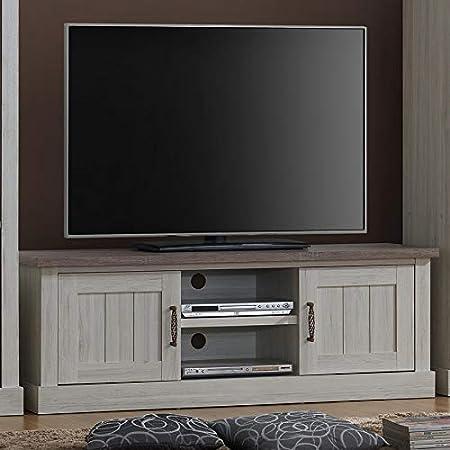 Kasalinea - Mueble para TV (155 cm), color roble claro y marrón: Amazon.es: Hogar