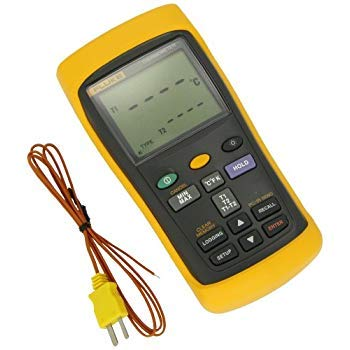 FLUKE 54-2 entrada dual Termómetro digital con grabación USB, 3 pilas AA,