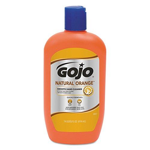 GOJO 0947-12 Natural Orange Smooth Hand Cleaner, 14 oz. (Case of - Stores Orange Outlets