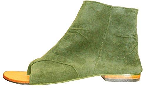de Sandalias Mujer 11sunshop Vestir Kaki de Piel Otra Green SHR5p