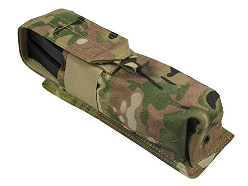 MOLLE Tactical Pouch 2 for mag Paintball Tube 160 Ball Airsoft (Multicam)