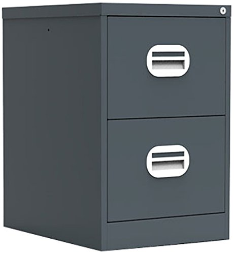 Simply Office FILEE2GRG 30 kg 2 Drawer Steel Filing Cabinet - Graphite Grey Silverline