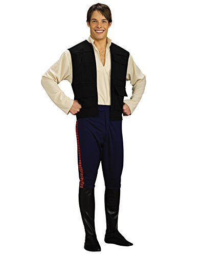 Star Wars Deluxe Hans Solo Costume, Black/Blue, Standard ()