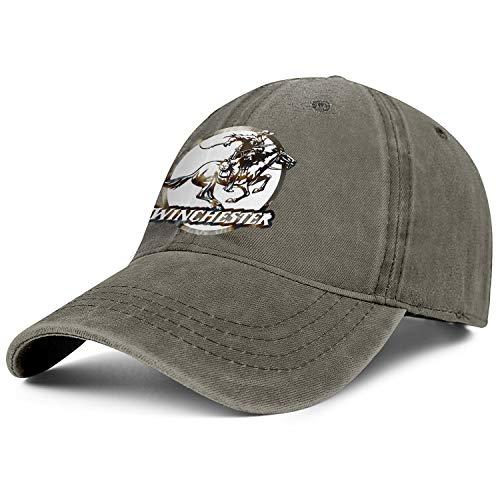 Men Women Cowboys Cap Winchester Repeating Arms Logo Low Profile Outdoor Baseball Denim Caps ()