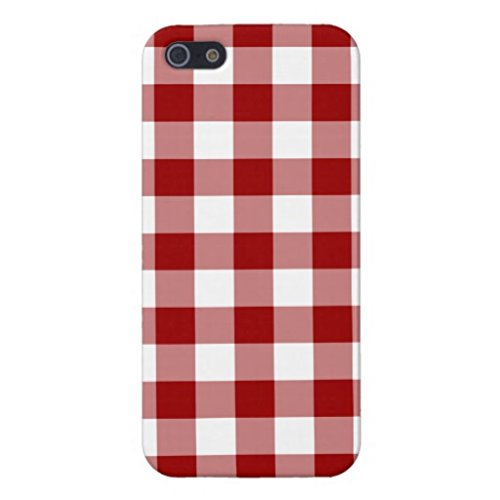 Samsung Galaxy S6 Case,Red And White Gingham Pattern Phone Case for Samsung Galaxy S6