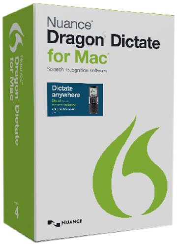 Nuance Dragon Dictate for Mac 4.0 with Digital Recorder (Voice Recorder To Text Software)